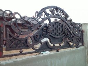 Wrought Iron Fence #12